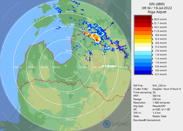 Latvian weather radar