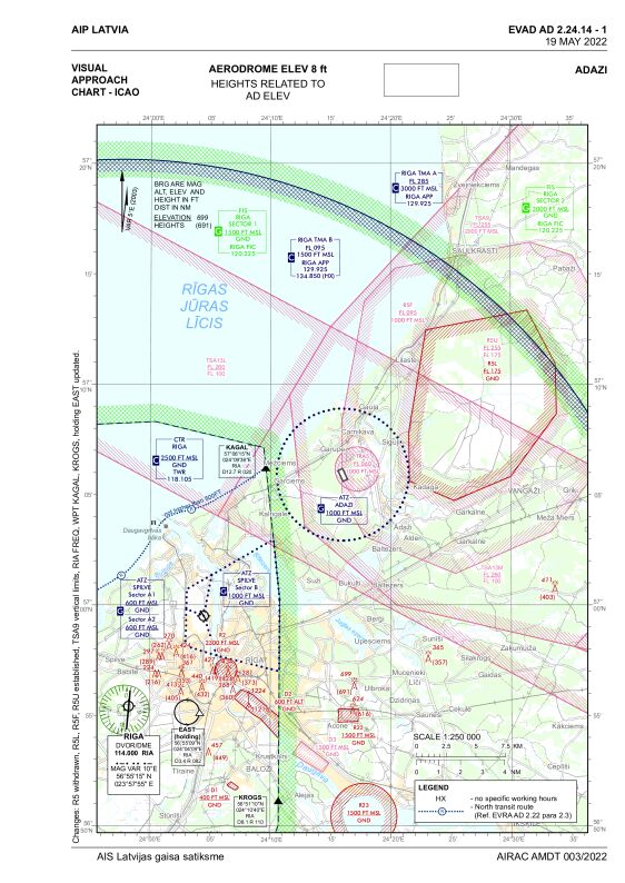 Visual approach chart, Adazi (EVAD)