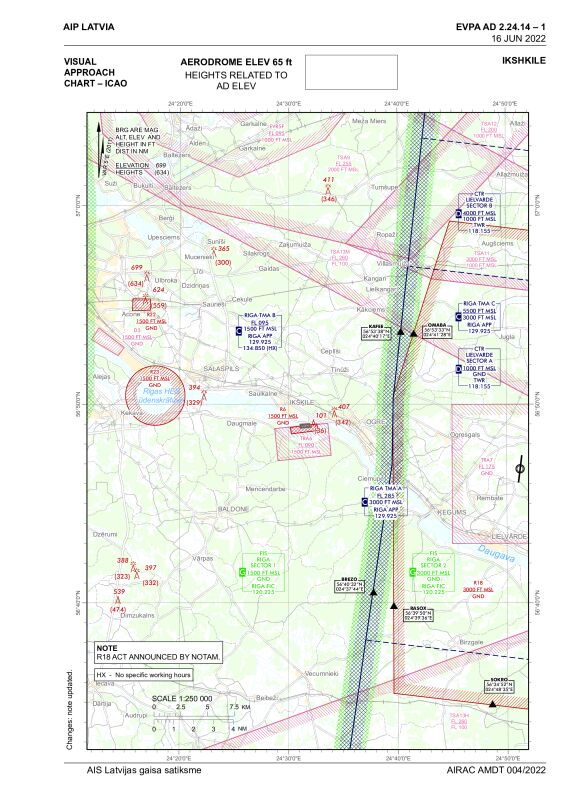 Visual approach chart, Ikskile (EVPA)